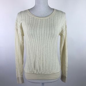 Band of Outsiders Sweater Cream Merino Wool Knit